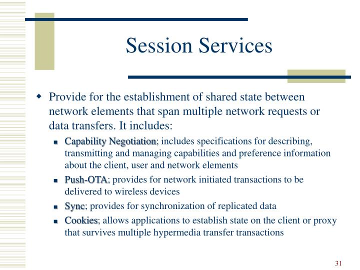 Session Services