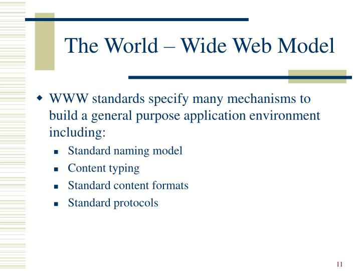 The World – Wide Web Model