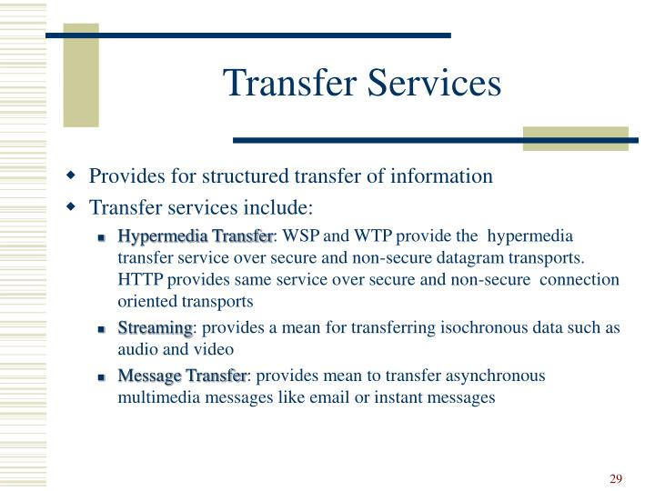 Transfer Services
