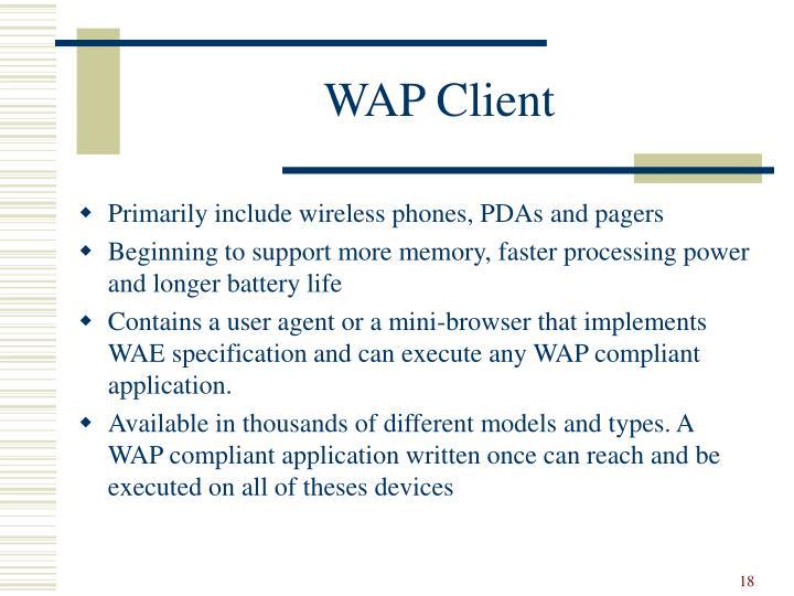 WAP Client
