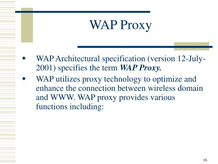 WAP Proxy