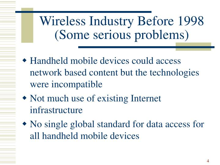 Wireless Industry Before 1998