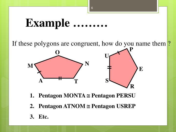 Example ………