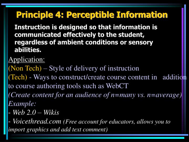 Principle 4: Perceptible Information