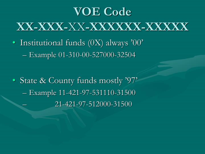VOE Code