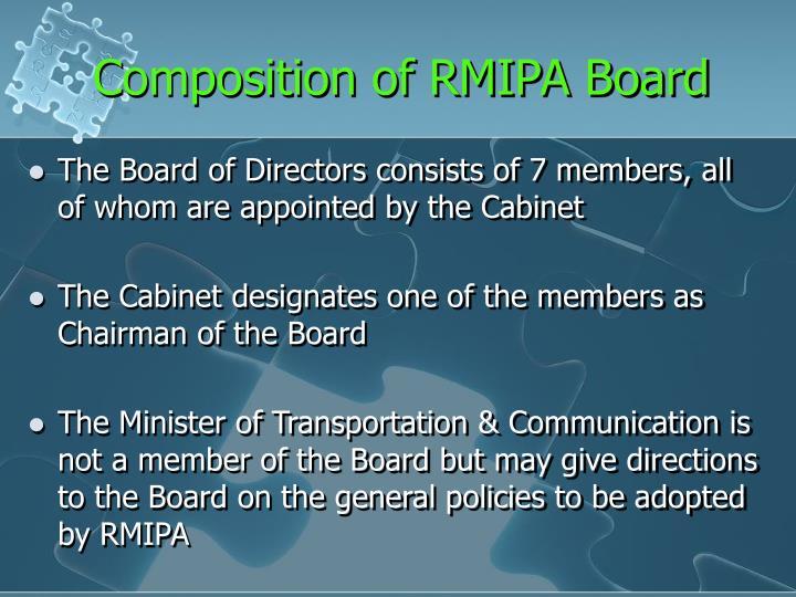 Composition of RMIPA Board
