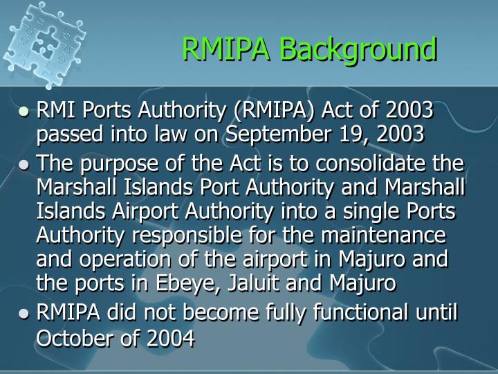 RMIPA Background