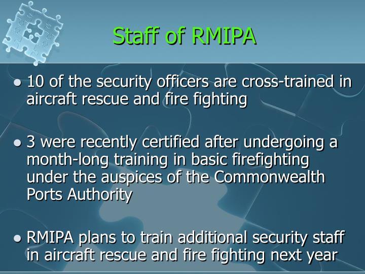 Staff of RMIPA