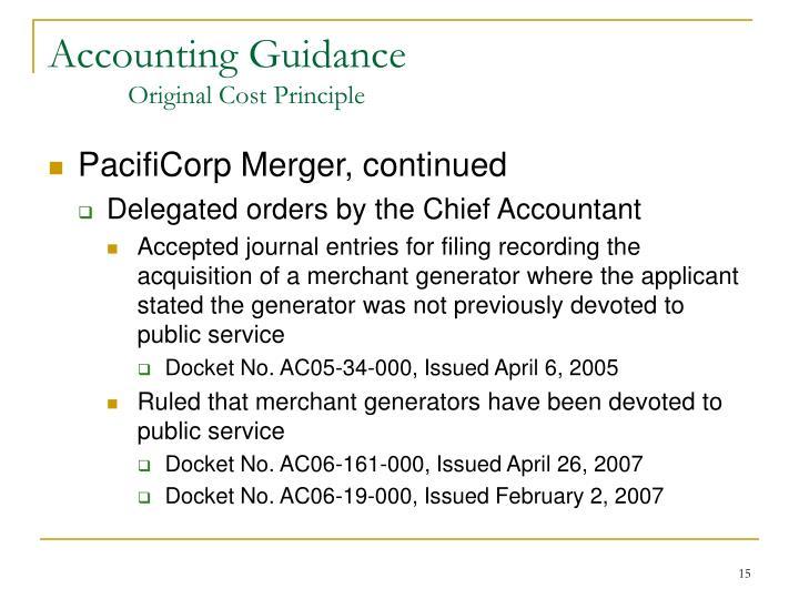 Accounting Guidance