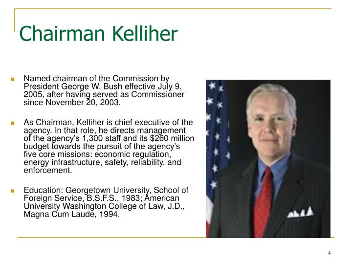 Chairman Kelliher