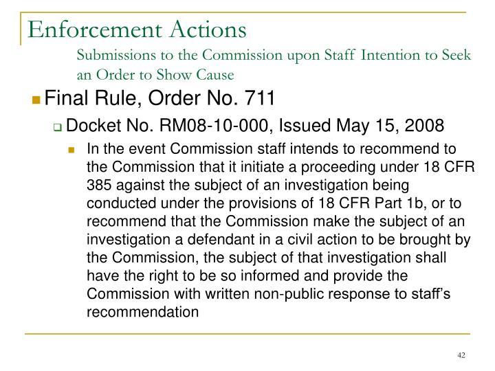 Final Rule, Order No. 711