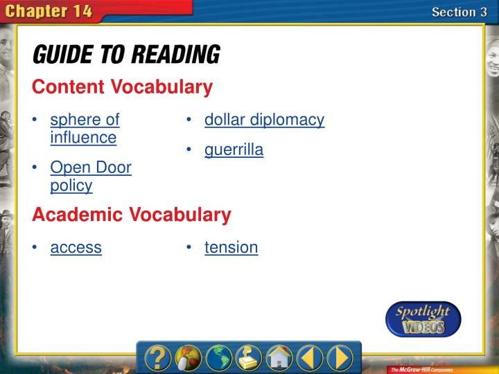 Content Vocabulary