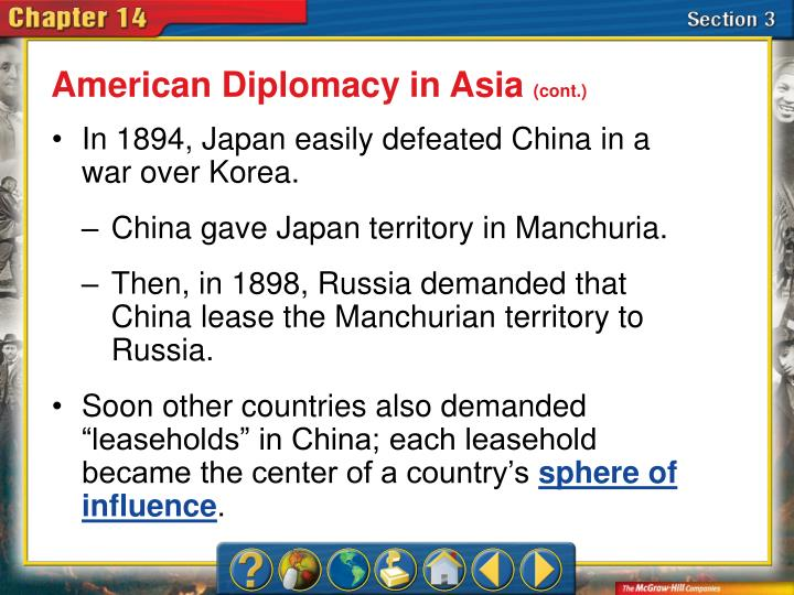 American Diplomacy in Asia