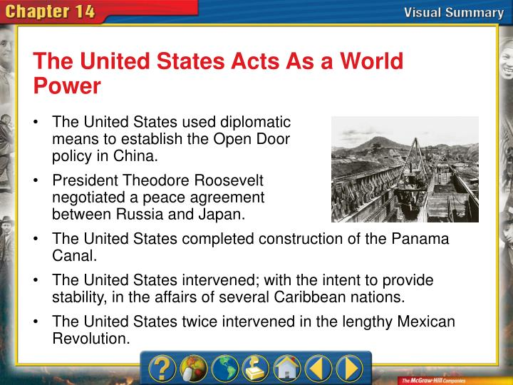 The United States Acts As a World Power