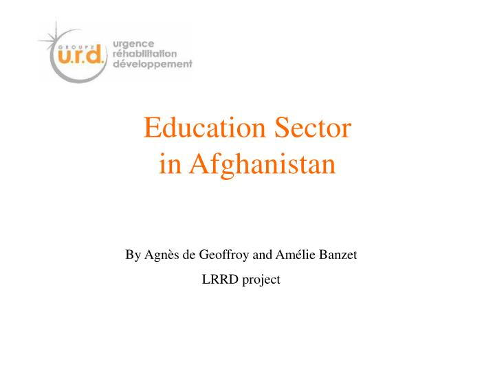 Education sector in afghanistan