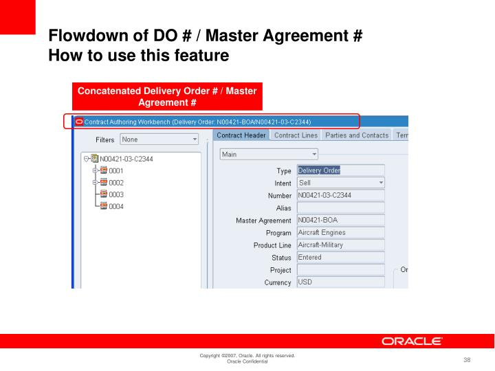 Concatenated Delivery Order # / Master Agreement #