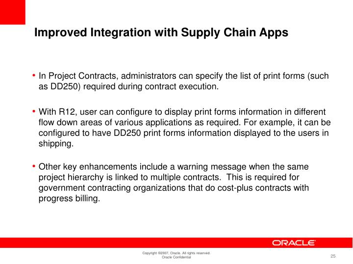 Improved Integration with Supply Chain Apps