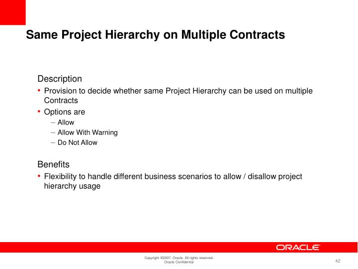 Same Project Hierarchy on Multiple Contracts