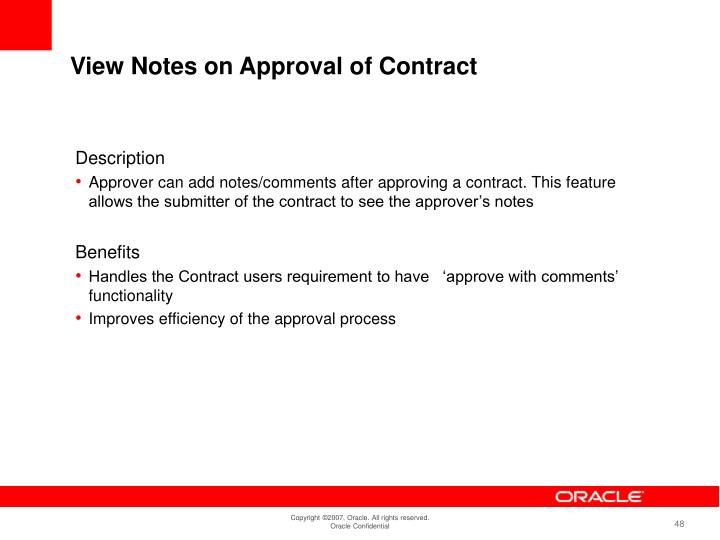 View Notes on Approval of Contract