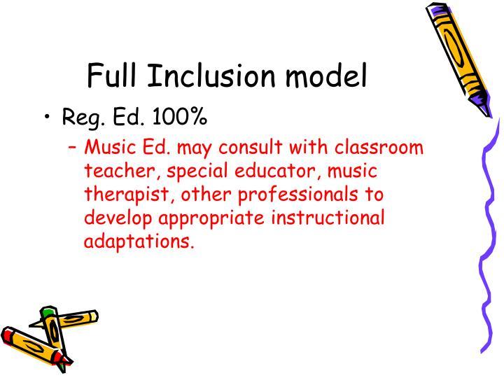 Full Inclusion model