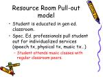 resource room pull out model