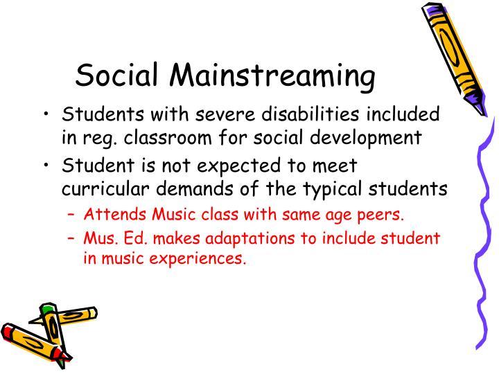 Social Mainstreaming