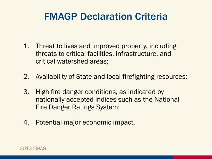 FMAGP Declaration Criteria