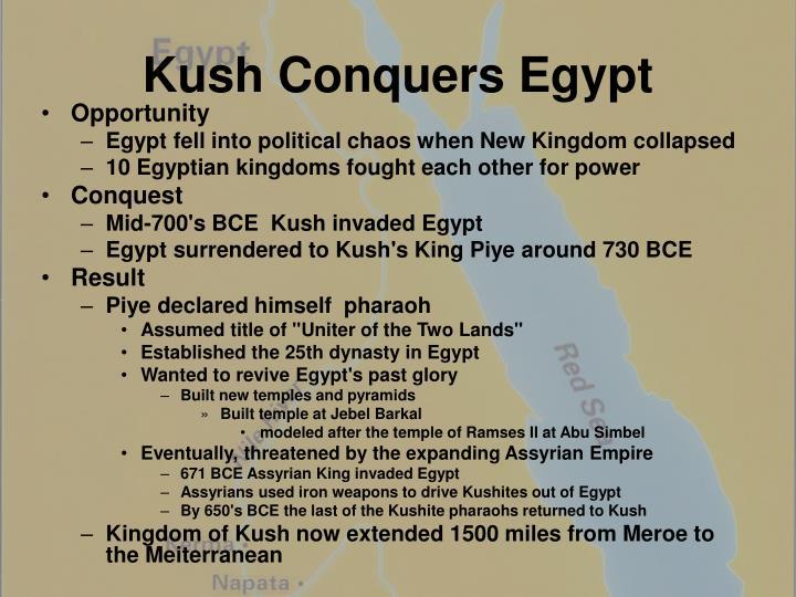 Kush Conquers Egypt