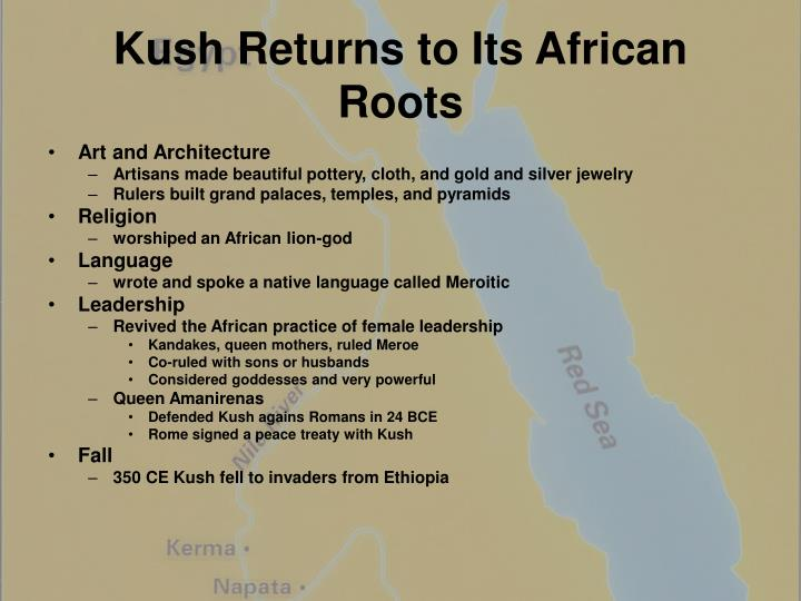 Kush Returns to Its African Roots