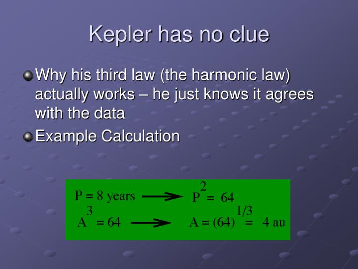 Kepler has no clue