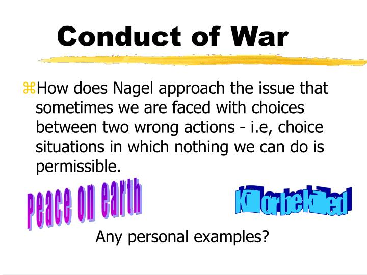 Conduct of War