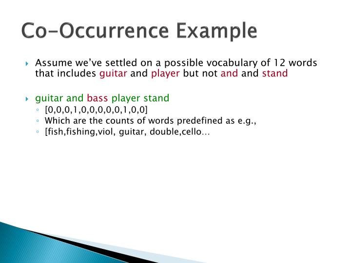 Co-Occurrence Example