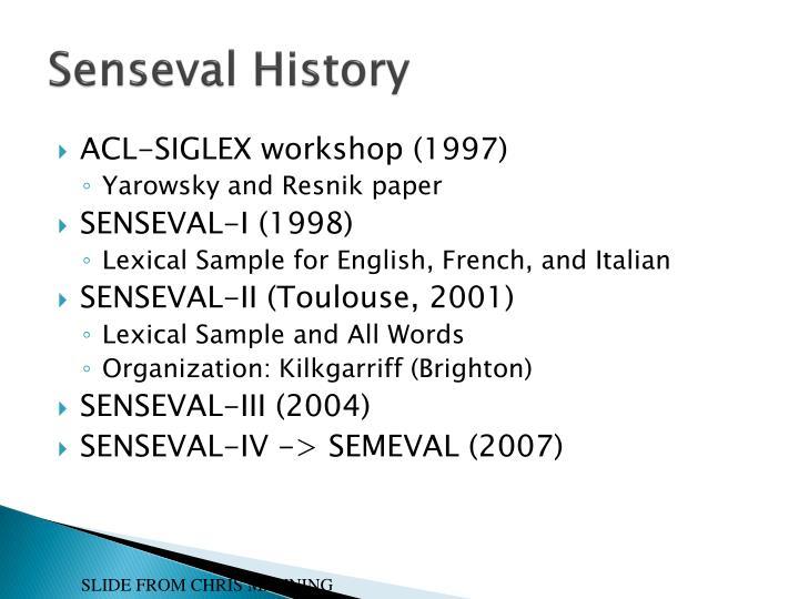 Senseval History
