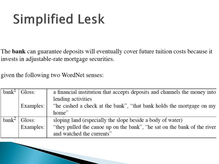 Simplified Lesk