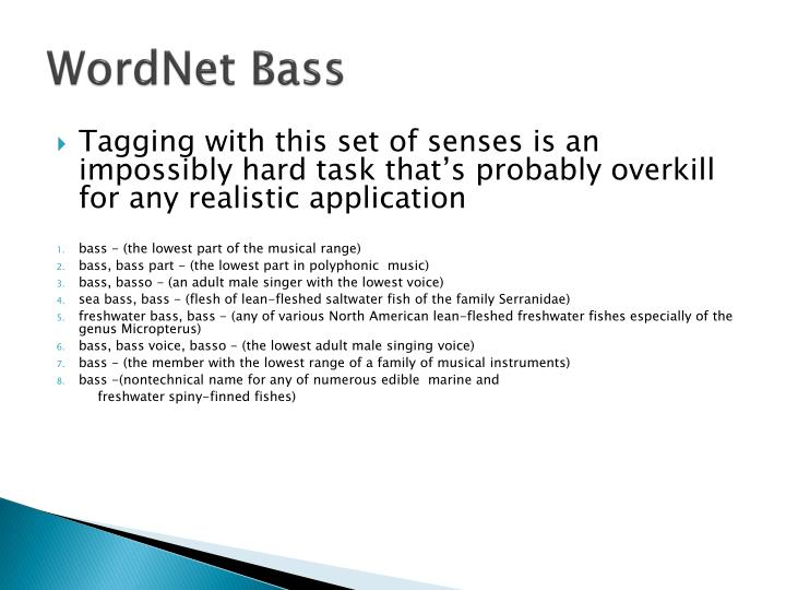 WordNet Bass