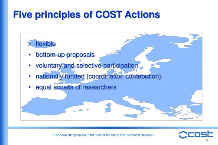 Five principles of COST Actions