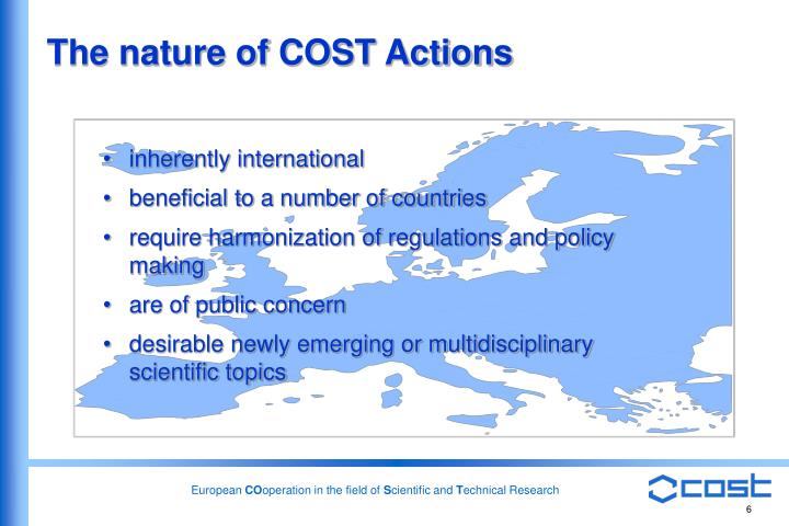 The nature of COST Actions