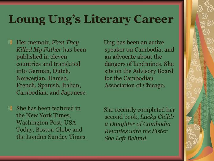 Loung ung s literary career