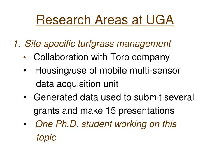 Research Areas at UGA