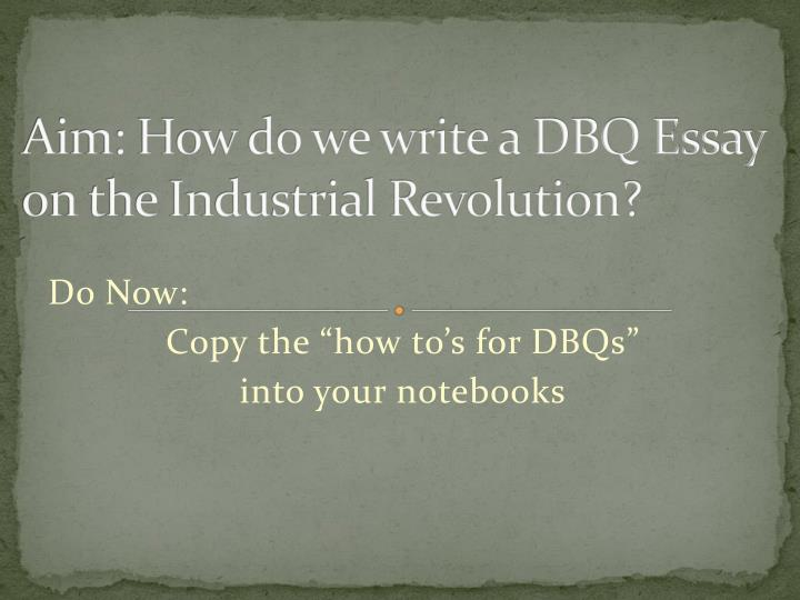 write dbq essay A step by step guide to writing the best possible document based question essay for advanced placement world history follow these steps, practice, and be.