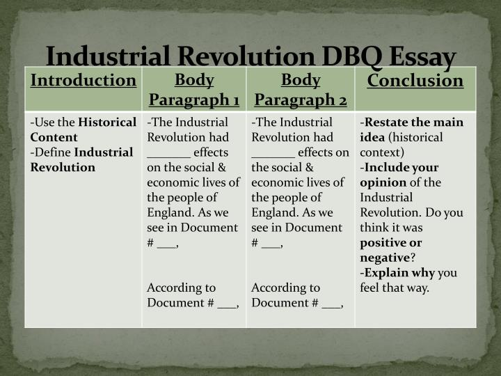 industrial revoluion thesis statements What to do when you're overwhelmed with homework why did the industrial revolution began in england thesis statement: o the great awakening began in new england, that.