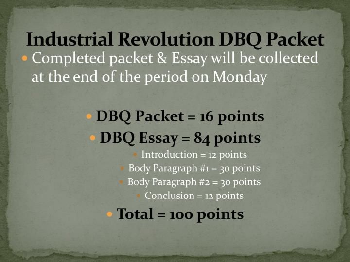 positive and negative effects of the industrial revolution dbq essay View essay - industrial_rev_dbq from  industrial_rev_dbq - name hour date industrialization  had a wide range of positive and negative effects on the.