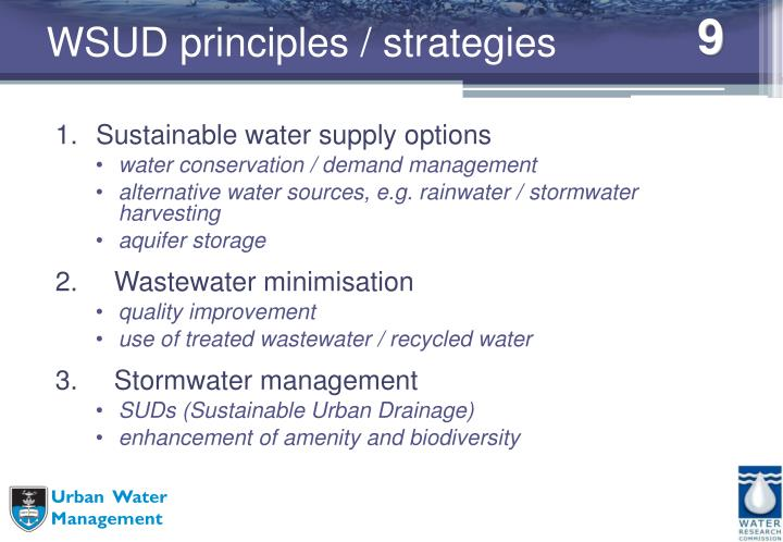 WSUD principles / strategies
