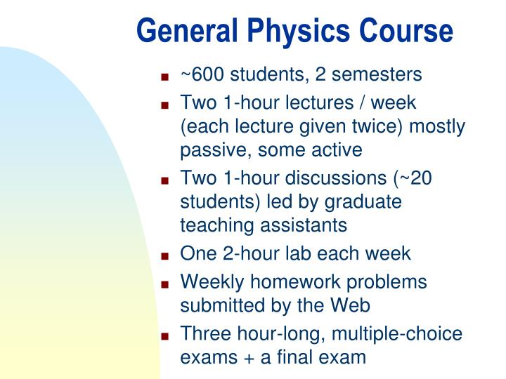 General Physics Course