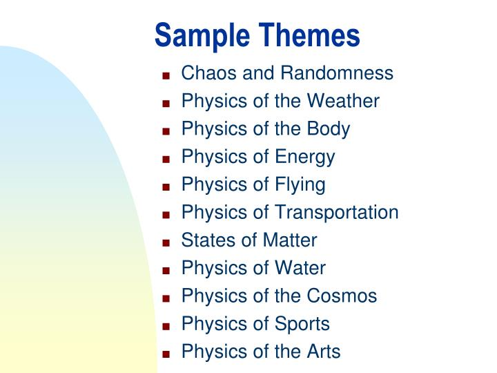 Sample Themes