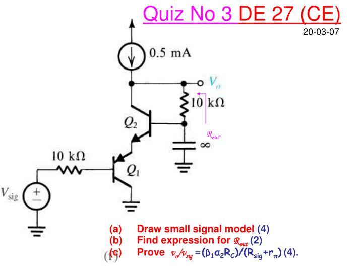Quiz No 3