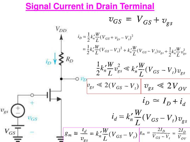 Signal Current in Drain Terminal