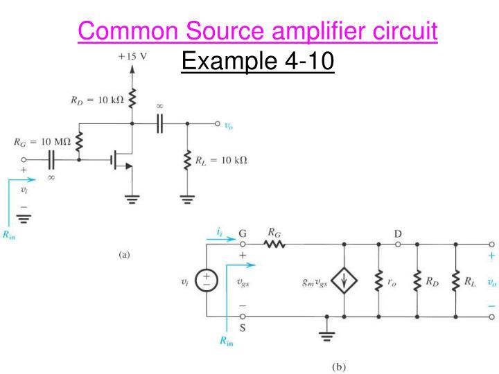 Common Source amplifier circuit