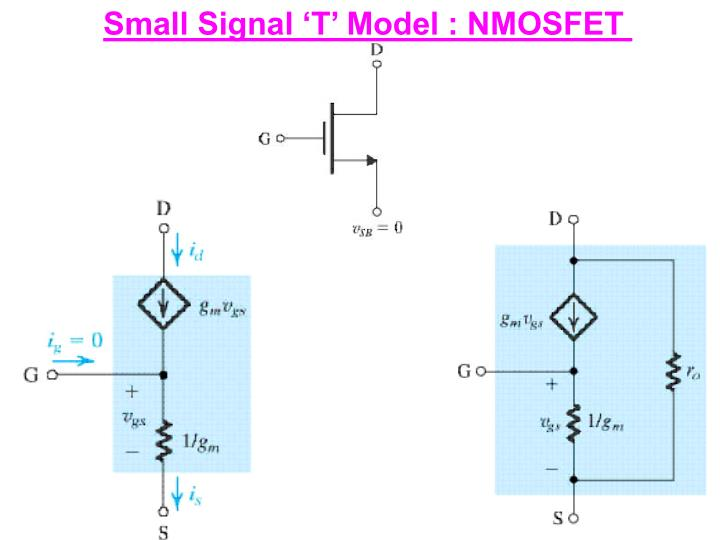 Small Signal 'T' Model : NMOSFET