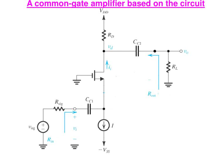 A common-gate amplifier based on the circuit